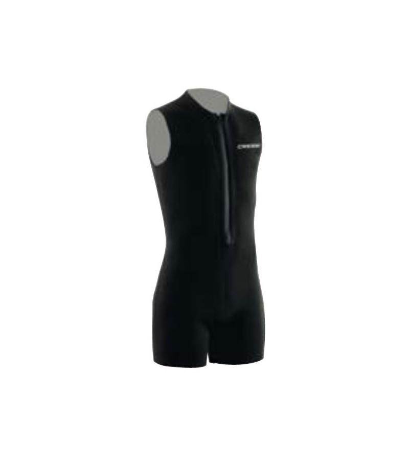 Sous-combinaison monopièce type shorty débardeur Cressi Zip Vest en néoprène 3mm pour une protection thermique supplémentaire