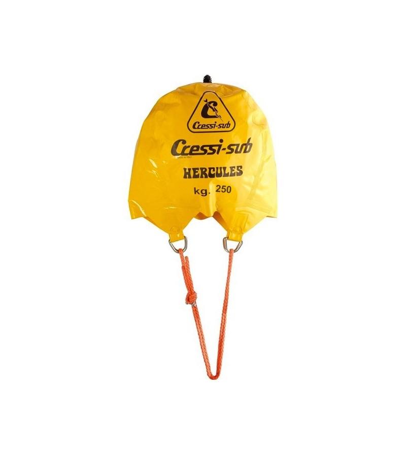 Parachute de relevage sous-marin avec soupape Cressi Hercules pour le levage de charges jusqu'à 250kg