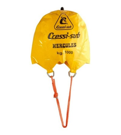 Parachute de relevage sous-marin avec soupape Cressi Hercules pour le levage de charges jusqu'à 1000kg