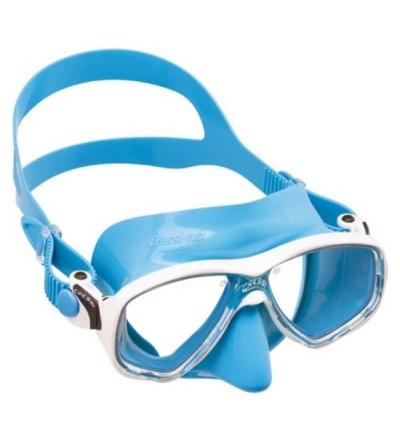 Masque à deux verres Cressi Marea en silicone coloré pour le snorkeling et la natation mais aussi pour la plongée - bleu