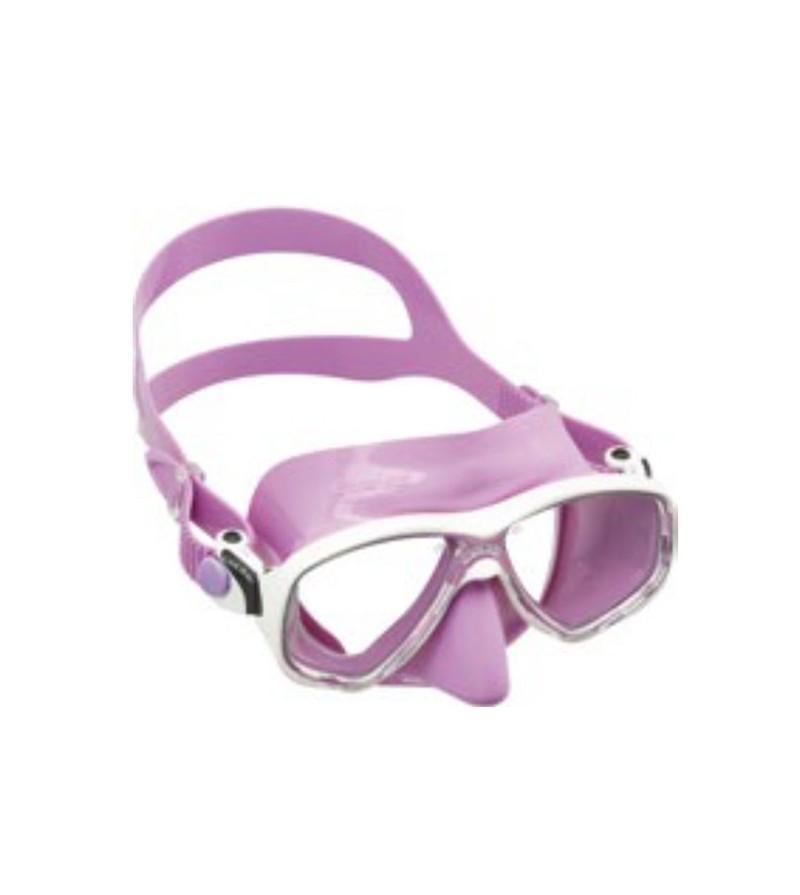 Masque à deux verres Cressi Marea Junior en silicone coloré pour le snorkeling, natation, la plongée pour femme & enfant - lilas