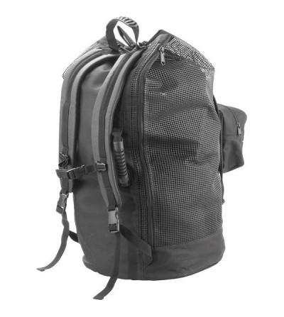 Grand sac à dos de 92 litres Cressi Palm en filet PVC robuste avec 2 ouvertures et pouvant contenir un équipement complet