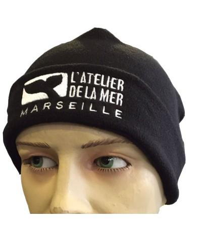 Bonnet polaire souvenir ATELIER DE LA MER - Noir