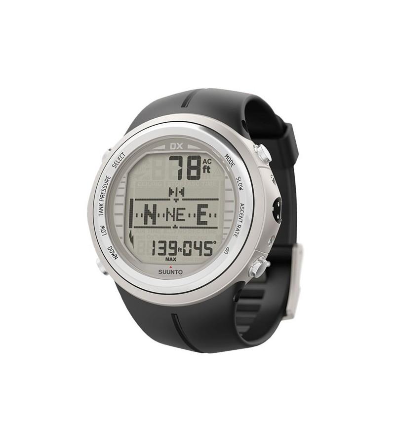 Montre ordinateur de plongée Suunto DX avec bracelet élastomère - Argent