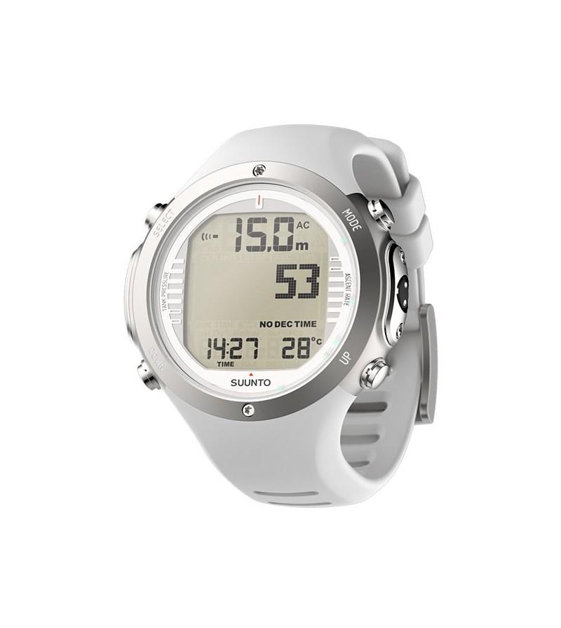 Montre Ordinateur de plongée Suunto D6i Novo Blanc avec mode apnée + interface USB