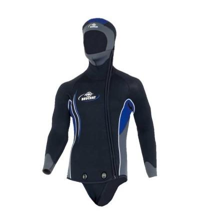 Veste Haut de combinaison de plongée humide homme Beuchat Sormiou en néoprène 7mm avec cagoule & fermeture zip intégral