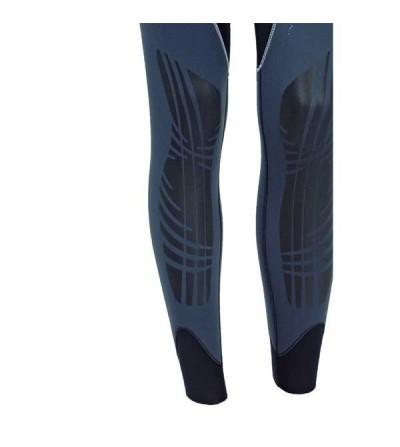 Bas de combinaison de plongée humide type pantalon salopette homme Beuchat Sormiou en néoprène 7mm