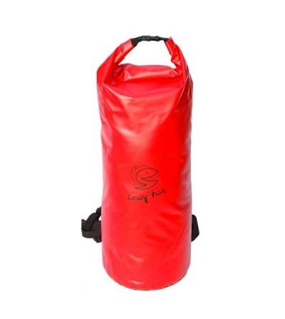 Sac à dos étanche & solide Crazy Fish Aventurer 60L rouge