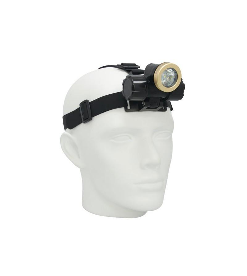 Lampe frontale de plongée à LED bigblue HL450N pour l'exploration - faisceau étroit - étanche à 100 mètres