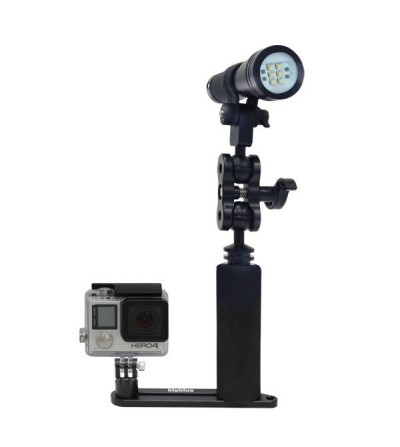 SINGLE ARM TRAY bigblue compatible Go Pro - exemple de montage