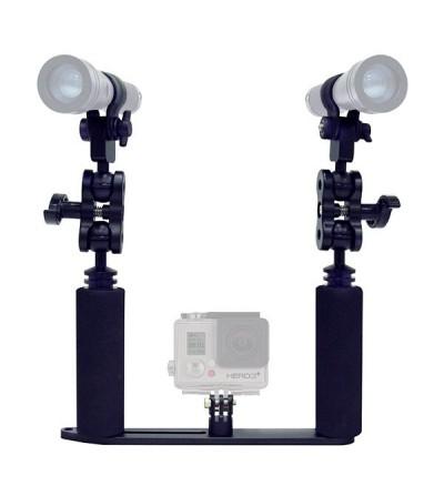 Kit support complet double éclairage bigblue GP450 pour Go Pro