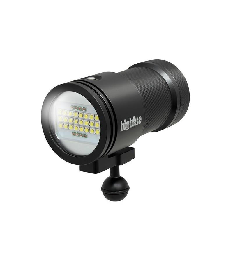 Phare de plongée à LED bigblue VL15000P pour l'exploration et la photo/vidéo sous-marine - faisceau large 160°