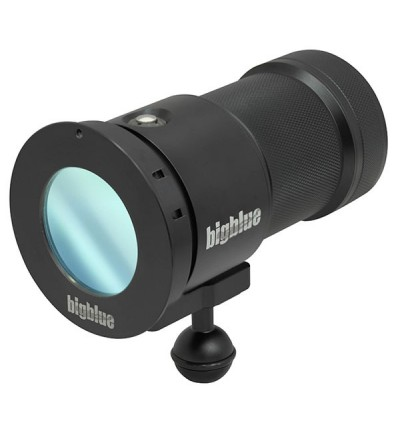 Phare de plongée à LED bigblue VL15000P pour l'exploration et la photo/vidéo sous-marine - filtre fluoro