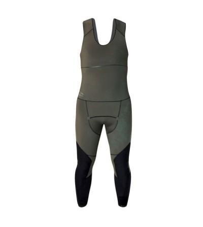 Pantalon pro type salopette Beuchat Espadon Prestige camouflage en néoprène 7mm pour la chasse sous-marine et l'apnée