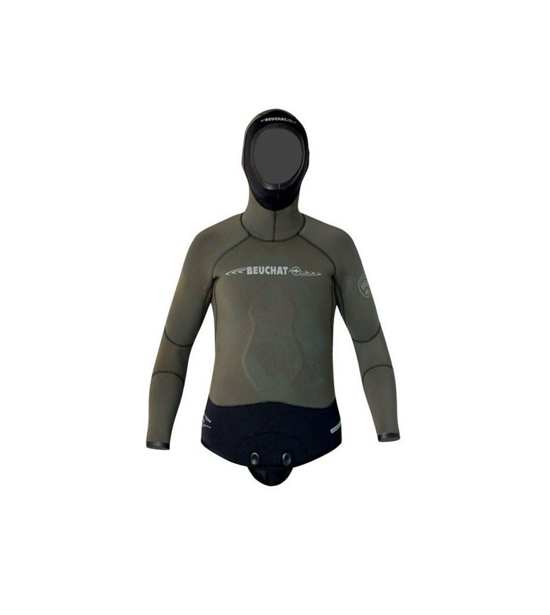 Veste de combinaison Beuchat Espadon Prestige camouflage en néoprène 7mm pour la chasse sous-marine et l'apnée