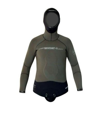 Veste de combinaison Beuchat Espadon Prestige camouflage en néoprène 5mm pour la chasse sous-marine et l'apnée