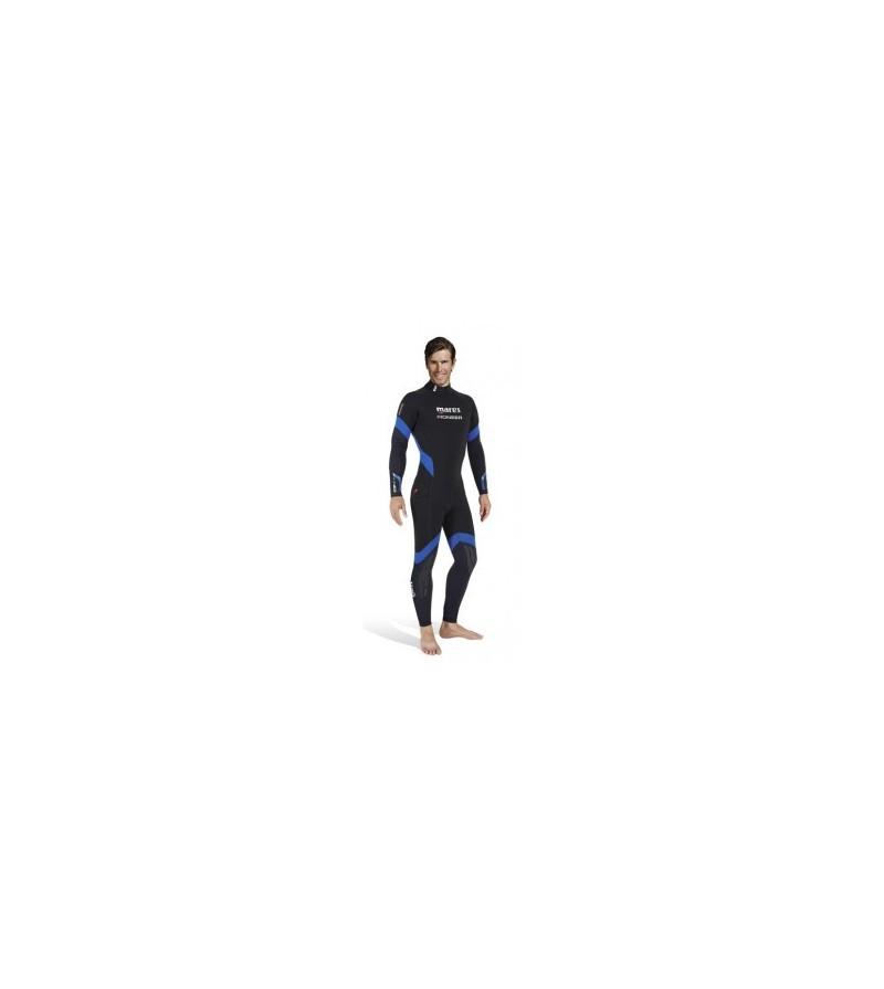 Combinaison monopièce humide homme Mares Pioneer 7mm 2017 avec cagoule séparée