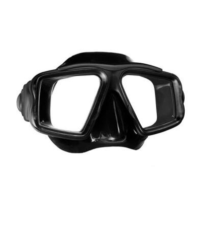 Masque deux verres avec jupe silicone Mares Opera au design classique et de fabrication robuste pour plongée & snorkeling - noir