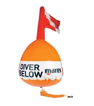 Bouée ronde de signalisation de surface Mares pour les paliers et l'exploration plongée en toute sécurité