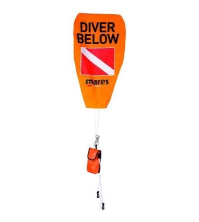 Bouée ronde de signalisation de surface Mares pour marquage plongeurs lors des paliers de décompression ou sécurité