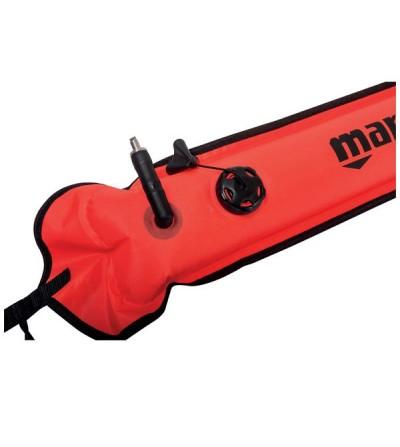 Parachute orange  Mares XR haute visibilité avec soupape de purge de signalisation en surface ou marquage pour la plongée TEK
