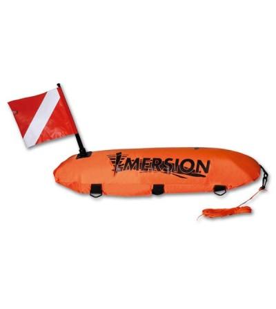 Bouée longue profilée à double enveloppe de signalisation Imersion pour la chasse sous-marine, l'apnée & la nage