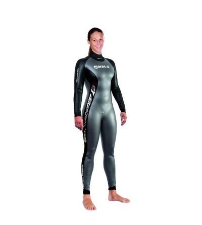 Combinaison monopièce femme Mares Pure Insctinct New Horizon 10 Lady en néoprène lisse 1mm pour l'apnée en piscine