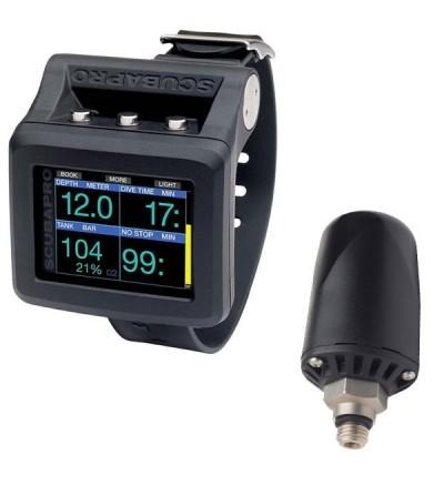 L'ordinateur de plongée de poignet Scubapro Galileo 2 avec émetteur sans fil smart+ à temoin LED