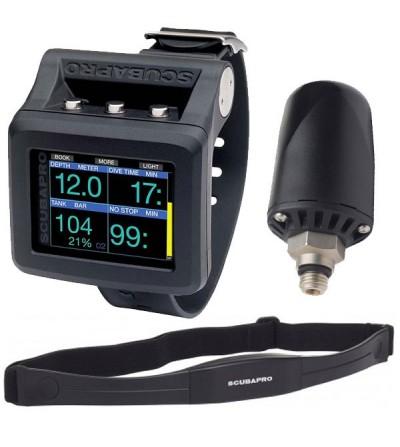 Ordinateur de plongée de poignet Scubapro Galileo 2 avec émetteur sans fil & cardiofréquencemètre