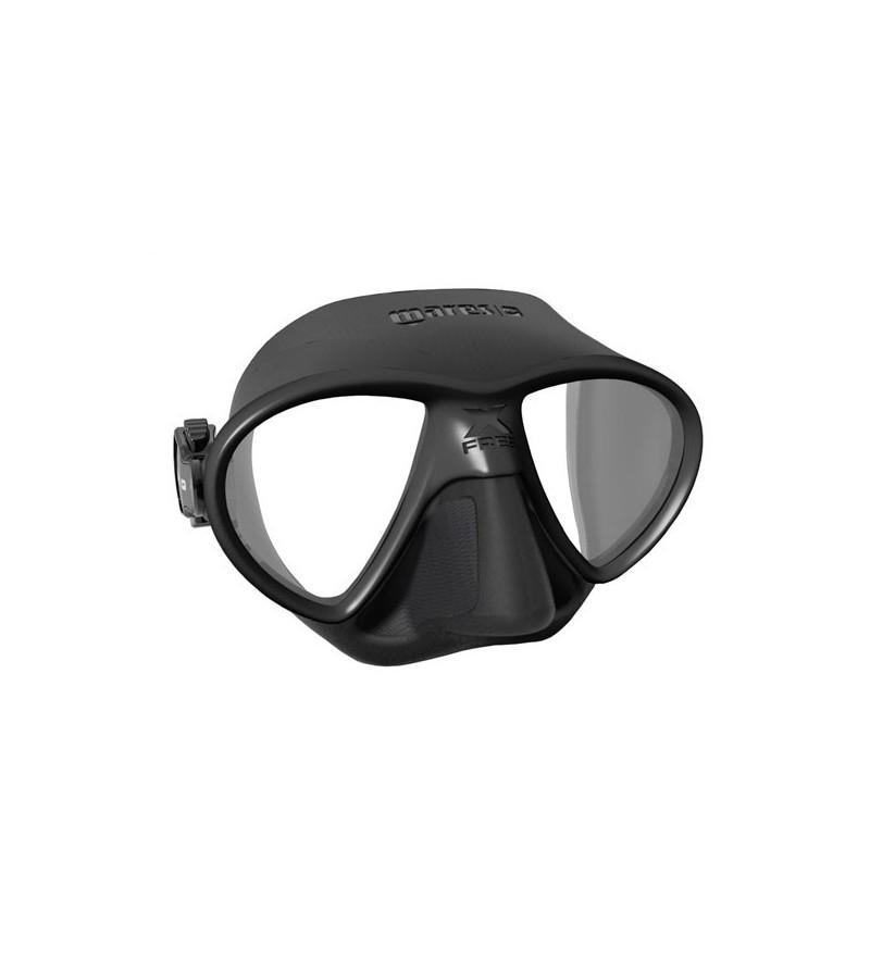 Masque d'apnée et chasse sous-marine à petit volume Mares Pure Instinct X-Free finition mate et profil hydrodynamique - noir