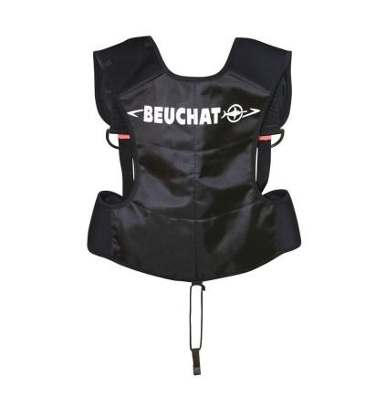 Baudrier Beuchat Noir avec poches à plomb, harnais réglable et système de largage rapide pour la chasse sous-marine