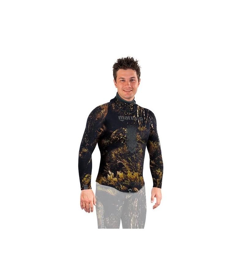 Veste de combinaison Illusion 50 en néoprène 5mm camouflage Mares Pure Instinct pour la chasse sous-marine et l'apnée