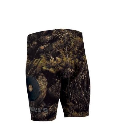Short / bermuda de lestage en néoprène 2mm camouflage Illusion avec poches à plomb Mares Pure Instinct pour chasse sous-marine