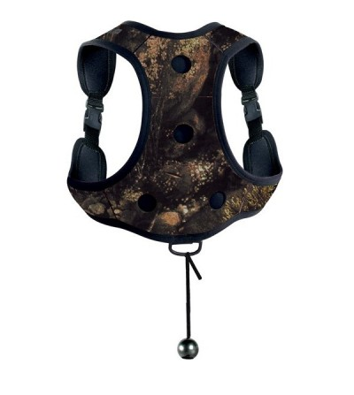 Gilet de lestage en néoprène Camo Illusion avec poches à plomb et harnais réglable Mares Pure Instinct pour chasse sous-marine