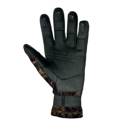 Gants Mares Pure Instinct très souples en néoprène 2mm camo illusion avec renforts Amara paume & doigts pour chasse sous-marine