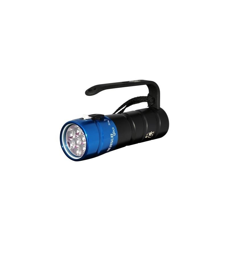 Phare de plongée à LED blanc neutre 4300K Bersub Explo 6 à accu rechargeable Lithium-ion pour l'exploration sous-marine
