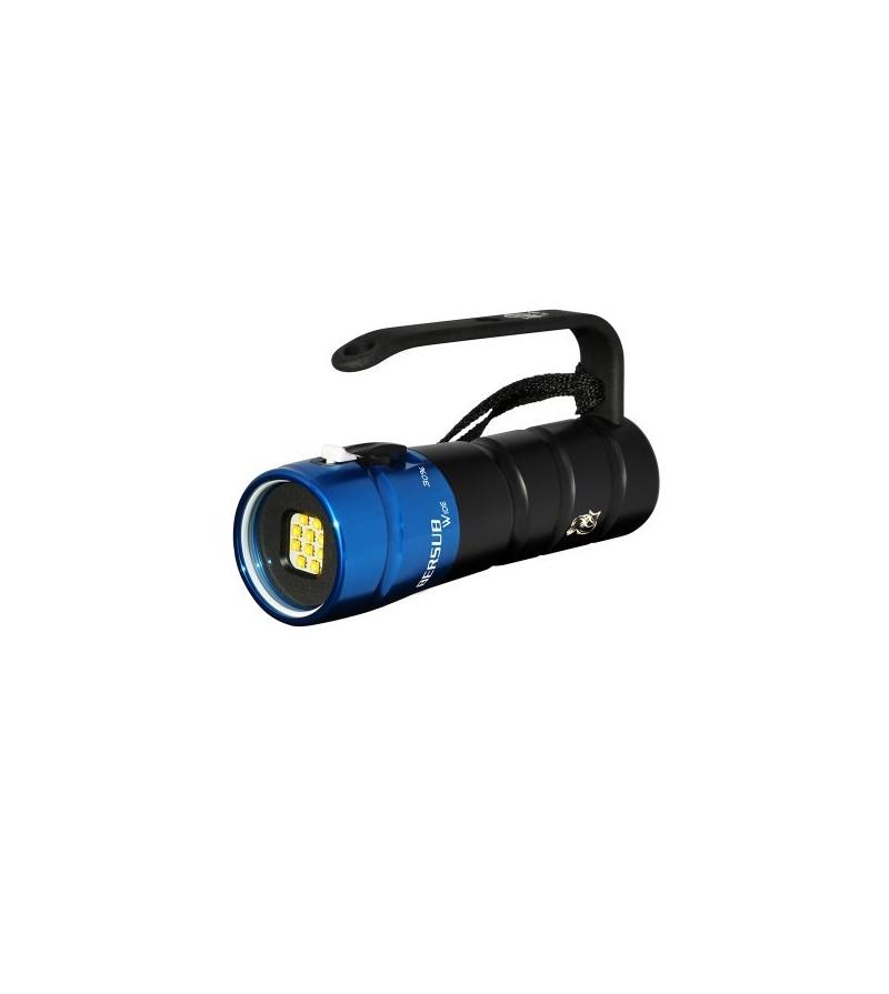 Phare de plongée à LED Bersub Wide 10 Neutral rechargeable à faisceau large 120° pour exploration/photo/vidéo sous-marine