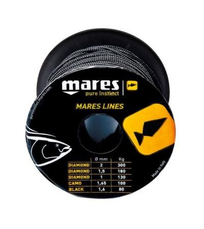 Bobine de 50m de drisse noire diamètre 1.6mm (80kg) Mares Pure Instinct pour moulinet et arbalètes de chasse sous-marine