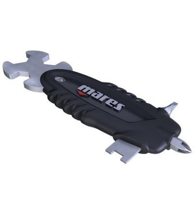 Multi tool Tech Mares : Poignée d'outils avec clés hexagonales et allen pour l'entretien de votre matériel de plongée