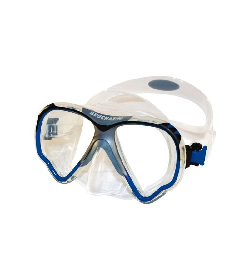 Masque deux verres Beuchat View-Max 2 HD pour la plongée et le snorkeling - rendu des couleurs naturel et distorsion réduite