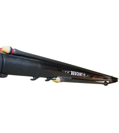 Fusil harpon de chasse sous-marine à poulies Beuchat Marlin Carbone Revo Concept 105 cm avec fût profilé carbone