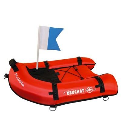 Bouée Planche gonflable Beuchat pluma, signalisation de surface et transport d'accessoires en chasse sous-marine, apnée & PMT