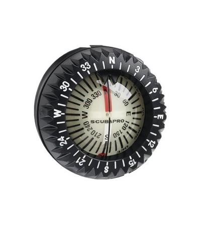 Capsule boussole compas Scubapro FS2 à bain d'huile facile à lire pour montage sur bracelet ou console instrument