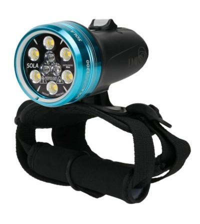 Phare de plongée rechargeable Dive and Motion Sola Dive 1200 S/F jusqu'à 1200 lumens pour la photo & l'exploration sous-marine