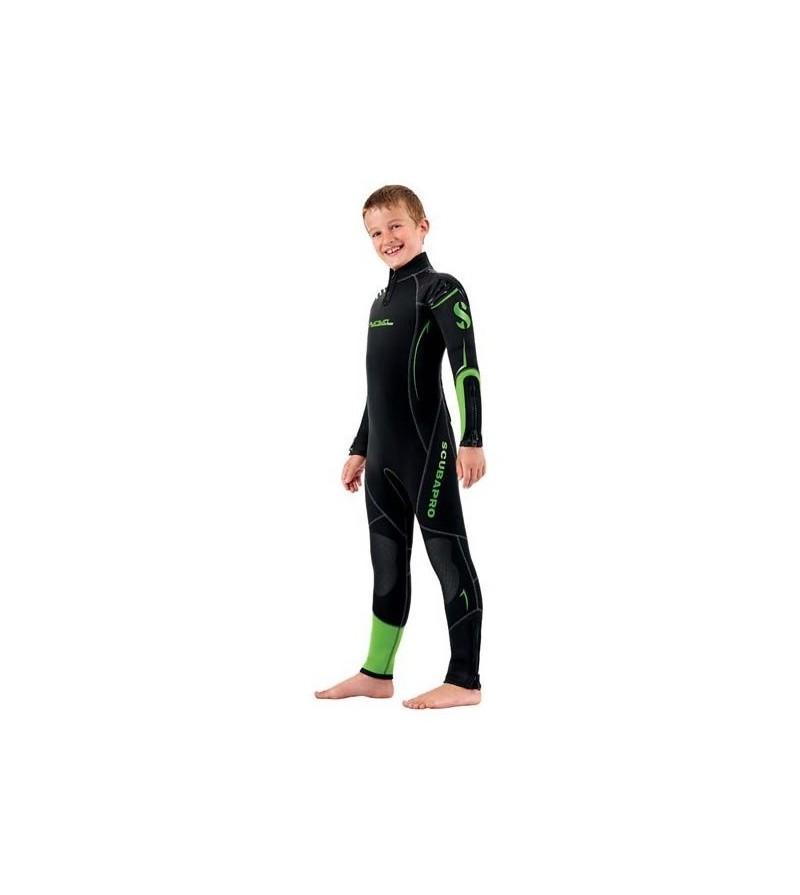 Combinaison de plongée Scubapro Rebel 6/5mm sans cagoule pour plongeur junior à la fois chaude et confortable