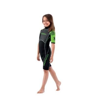 Shorty Scubapro Rebel 2mm enfant pour la plongée, snorkeling, nautisme junior ou comme protection solaire à la plage