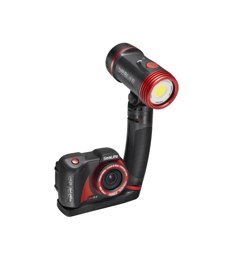 Pack avec appareil photo/vidéo numérique Sea Life Micro 2.0 64GB, lampe Sea Dragon 2500, micro plateau & bras flex-connect