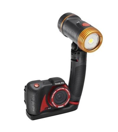 Pack avec appareil photo/vidéo numérique Sea Life Micro 2.0 32GB, lampe Sea Dragon 1500, micro plateau & bras flex-connect