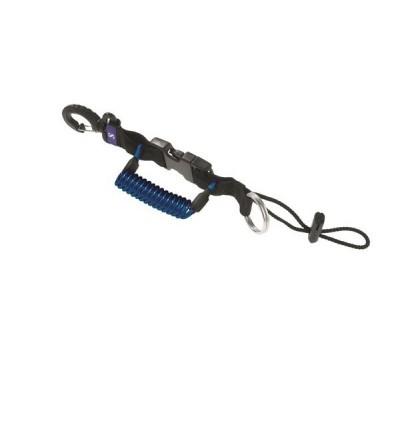 Dragonne rétractable Standard Scubapro avec clip de verrouillage, anneau inox & mousqueton pour appareil photo/lampe