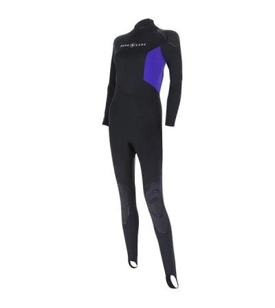 Combinaison Femme monopièce de plongée Aqua Lung Skin Suit en néoprène 0.5mm pour la plongée & snorkeling en eau tiède à chaude